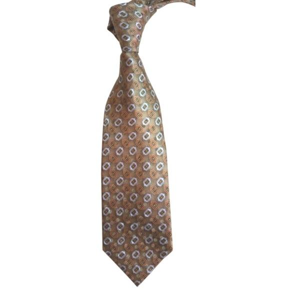 eea91bfc Ermenegildo Zegna Bronze Orange and Light Gray Tie